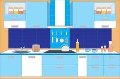 kuchenni meblarscy wnętrza ilustracja wektor