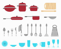kuchenni naczynia Obraz Royalty Free