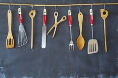 Kuchenni naczynia dla handlowej kuchni, restauracja, kucharstwo, k zdjęcie royalty free