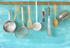 Kuchenni naczynia, kucharstwo, kuchenny pojęcie obraz stock