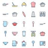 Kuchenni naczynia Odizolowywający Wektorowy ikona set może łatwo redagować lub modyfikujący ilustracja wektor