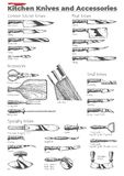Kuchenni noże i akcesoria royalty ilustracja