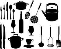 kuchenni różni naczynia ilustracja wektor