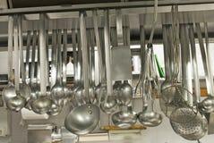 kuchenni restauracyjni naczynia Zdjęcie Stock