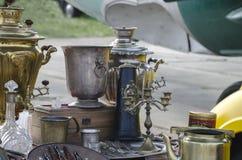 kuchenni starzy naczynia Obrazy Royalty Free