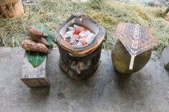 Kuchenni udostępnienia w wsi Fotografia Stock