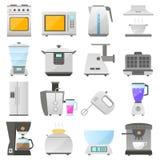 Kuchenni urządzenia, nowożytny mieszkanie Zdjęcie Royalty Free