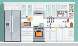Kuchenni urządzenia ilustracyjni Obrazy Royalty Free