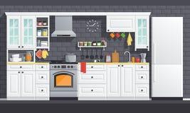 Kuchenni urządzenia ilustracyjni Fotografia Royalty Free