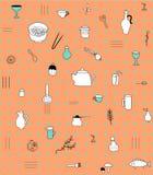 Kuchenny akcesoria wzór Fotografia Stock