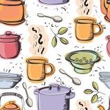 Kuchenny bezszwowy wzór ilustracji