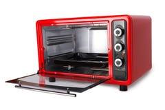 Kuchenny czerwony piekarnik fotografia stock