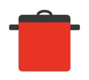 kuchenny garnek odizolowywający naczynie ikony projekt Obrazy Royalty Free