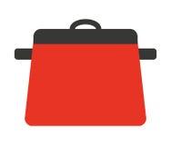 kuchenny garnek odizolowywający naczynie ikony projekt Zdjęcia Stock
