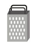 kuchenny grater odizolowywający naczynie ikony projekt Zdjęcia Stock