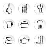 kuchenny ikona przedmiot Zdjęcia Royalty Free