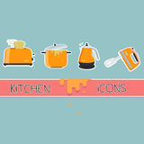 Kuchenny ikona set Fotografia Royalty Free