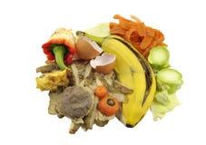 Kuchenny karmowy odpady zdjęcia royalty free