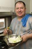 kuchenny mężczyzna obrazy royalty free