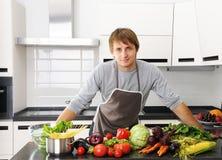 kuchenny mężczyzna Obrazy Stock