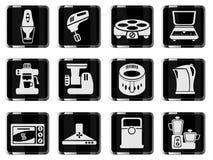 Kuchenny naczynie ikony set Obrazy Royalty Free