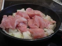 Kuchenny przygotowanie kurczaka mięso Fotografia Stock