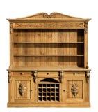Kuchenny sosnowy dresser rzeźbiący stary rocznik Zdjęcie Stock