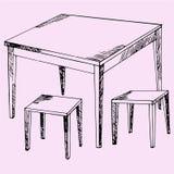 Kuchenny stół i krzesła Zdjęcia Stock