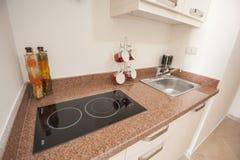 Kuchenny wewnętrzny projekt luksusowy mieszkanie Obraz Royalty Free