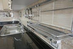 Kuchenny wewnętrzny projekt luksusowy mieszkanie Fotografia Stock