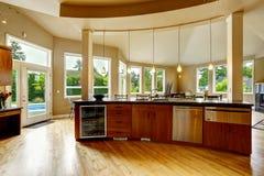 Kuchenny wnętrze w luksusu domu Nieruchomość w WA Zdjęcie Royalty Free