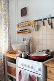 Kuchenny wnętrze Fotografia Royalty Free