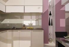 Kuchenny wnętrze ilustracji