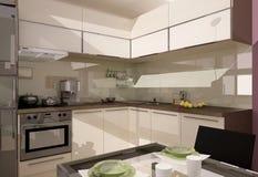 Kuchenny wnętrze ilustracja wektor
