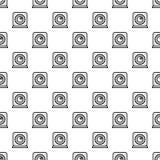 Kuchenny zegaru początku wzór bezszwowy royalty ilustracja