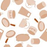 Kuchennych naczyń bezszwowy wzór Ilustracja Wektor