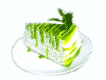 Kuchenpixelkunst Stockbild