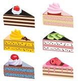 Kuchenscheiben Lizenzfreie Stockbilder