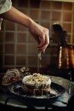 Kuchenverzierung Stockbild