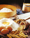 Kuchenvorbereitung. Stockfoto