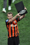 Kucher Olexandr with the award for best player Royalty Free Stock Photo