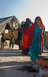 Kuchi Nomads. These nomadic Kuchi children wait while their parents prepare their camp for their winter move Royalty Free Stock Photography