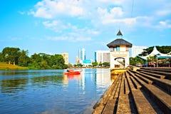 Kuching江边,婆罗洲(马来西亚) 库存图片