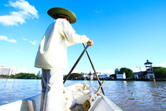 Kuching Boatman Royalty Free Stock Image