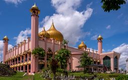Kuching City Mosque in Borneo royalty free stock photos