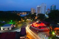 Kuching city at night Stock Photography