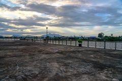 Kuching city waterfront at sunset Stock Image