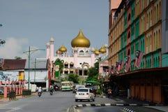 Kuching Grodzki meczet a K masjid Bandaraya Kuching w Sarawak, Malezja Zdjęcia Stock