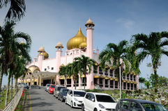 Kuching Grodzki meczet a K masjid Bandaraya Kuching w Sarawak, Malezja Obraz Stock