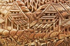 Traditional tribal motives decoration at the ceramics souvenirs in Kuching, Malaysia. KUCHING, MALAYSIA - AUGUST 27, 2009: Traditional tribal motives decoration Stock Image